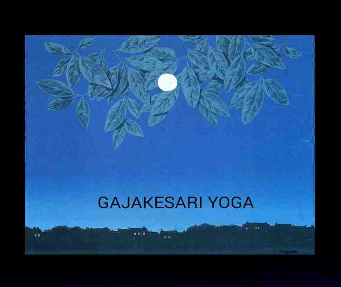 Gajakesari Yoga: Important Notes On It | THEVEDICHOROSCOPE COM